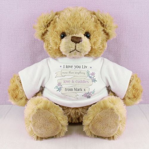 Personalised Garden Bloom T-Shirt Message Bear